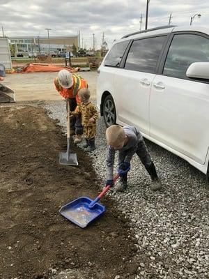 Jen Salvage Kids Helping Workers